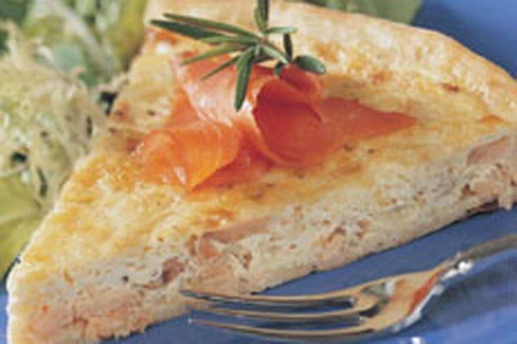 Tarte au saumon et poireau