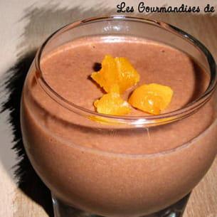 mousse au chocolat au lait à la lavande et à l'abricot