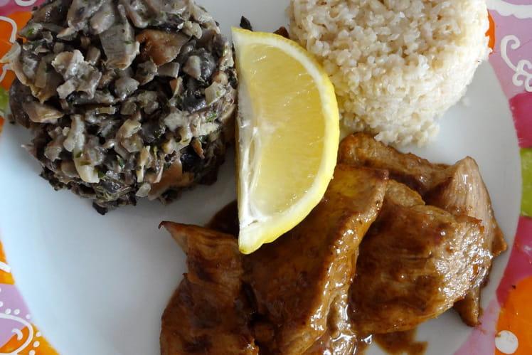 Escalopes de veau au citron et aux champignons
