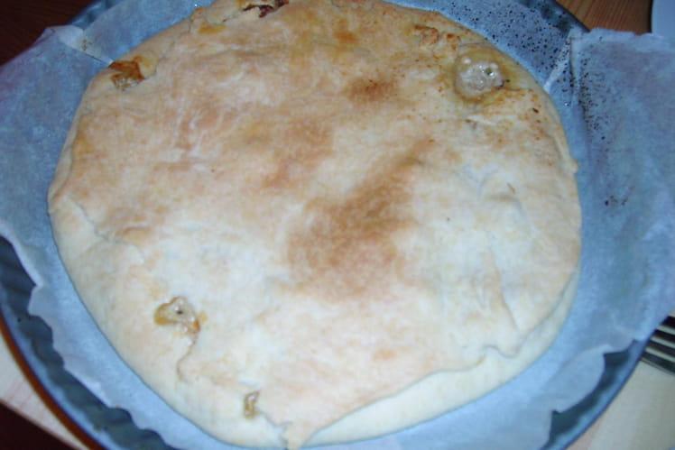 Chicken pie au poireau, échalote et herbes