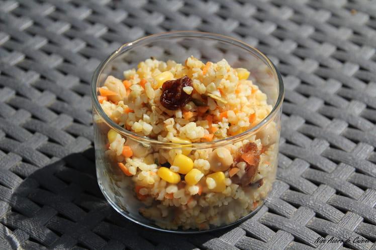 Salade de boulgour au maïs