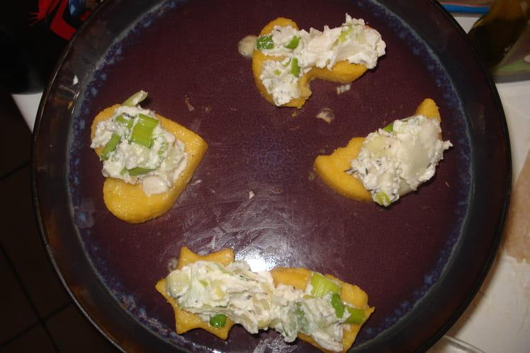 Bouchées de polenta à la ricotta