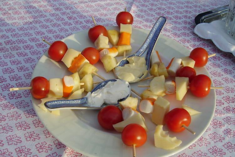 Brochettes apéritives estivales