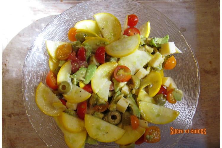 Salade de légumes aux olives et comté