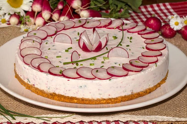 Cheesecake aux radis roses