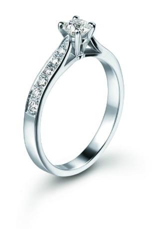 alliance solitaire platine et diamants orest