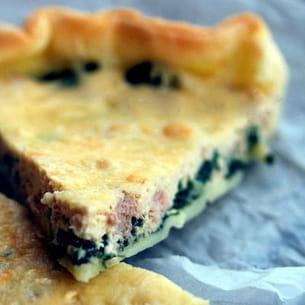 tarte au thon et aux pousses d'épinard