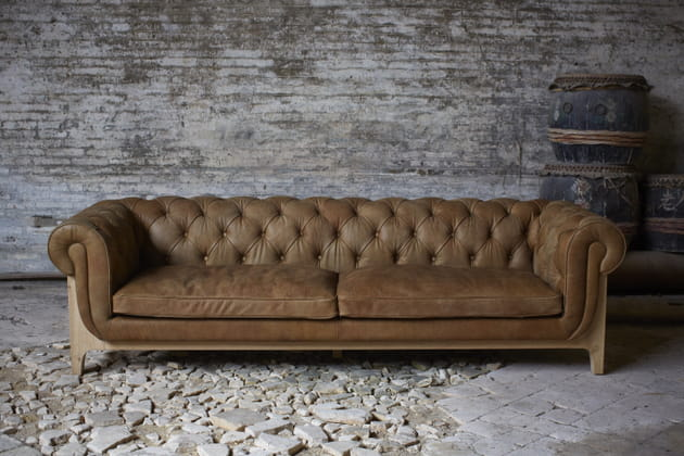 Canapé Cocoon Chesterfield de Bleu Nature