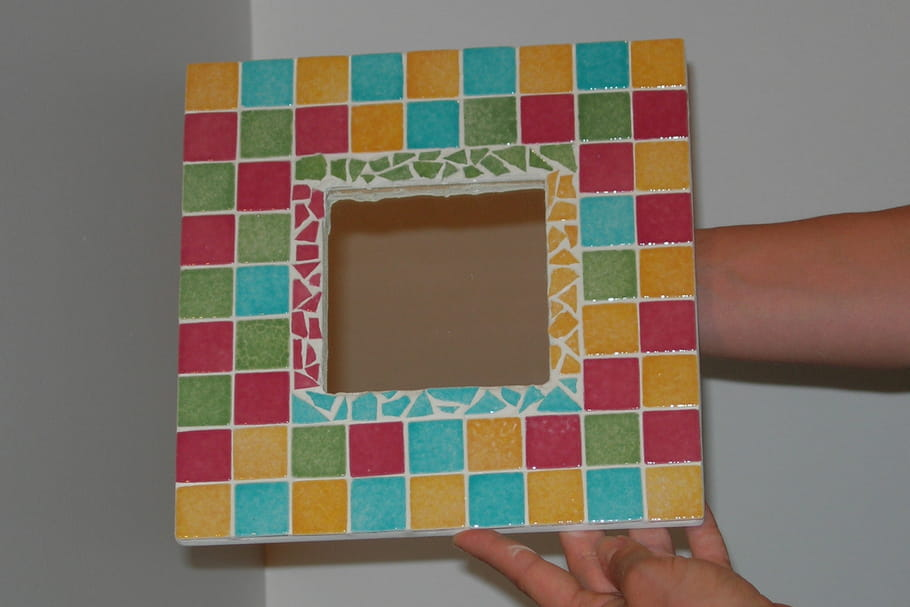 Comment faire un miroir en mosa que for Mosaique miroir