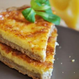 tarte au fromage et pâte brisée au sarrasin