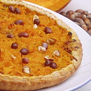 tarte au potimarron et noisettes