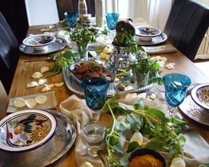 une mise en table inspirée de la culture des touaregs