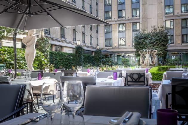 La terrasse du restaurant le Safran