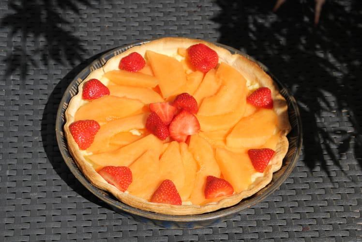 Tarte au melon à la crème pâtissière