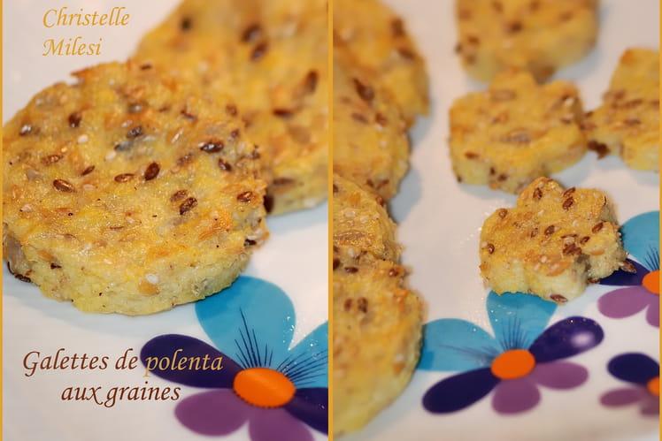 Galettes de polenta aux graines