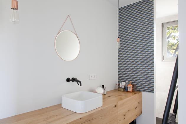 Petite salle de bains actuelle