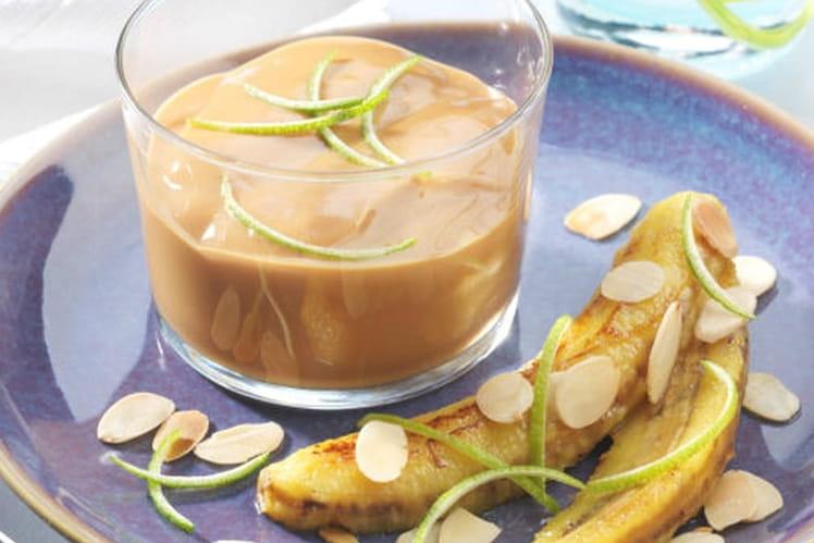Verrines de Caramel et sa Banane Caramélisée
