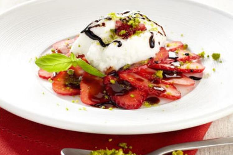 Carpaccio de fraises villa medicis