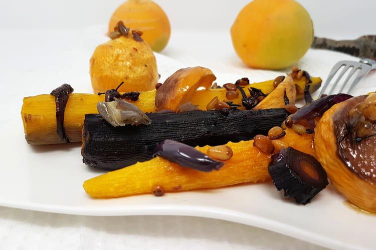 Légumes rôtis à l'huile de noisette