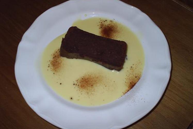 Fondant à la crème de marron et au chocolat