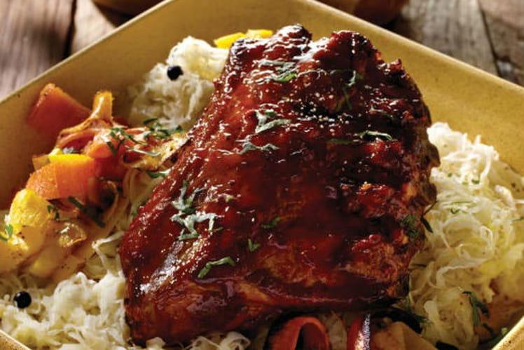Recette de travers de porc caram lis choucroute et carottes l 39 ancienne la recette facile - Cuisiner travers de porc ...
