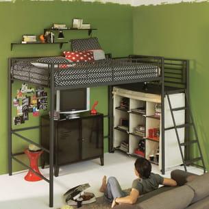 lit mezzanine alexi d 39 alinea. Black Bedroom Furniture Sets. Home Design Ideas