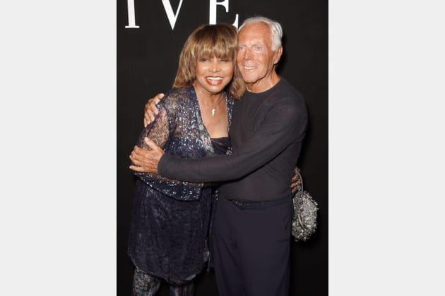 Tina Turner et Giorgio Armani chez Giorgio Armani Privé