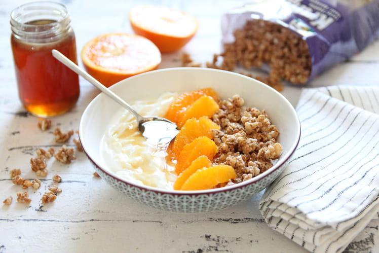 Bowl vitaminé fromage blanc, orange et miel