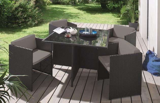 mobilier de jardin andreas de conforama. Black Bedroom Furniture Sets. Home Design Ideas