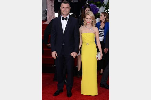 Sur le tapis rouge des Golden Globe, en 2011