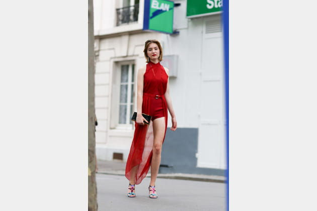 Street looks fashion week haute couture : glamour