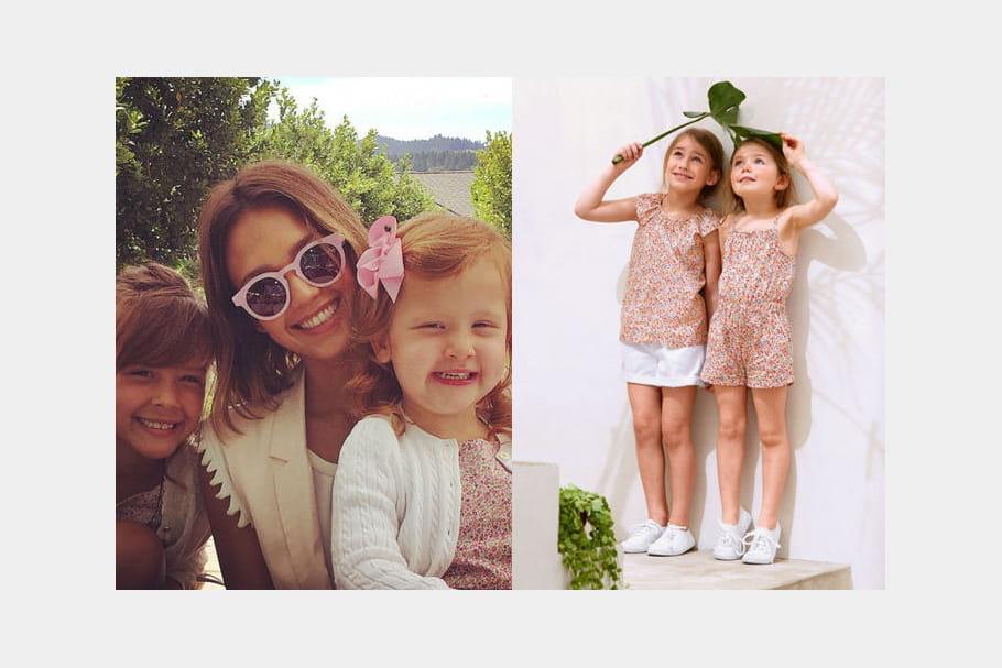 Un haut en liberty pour les filles de Jessica Alba