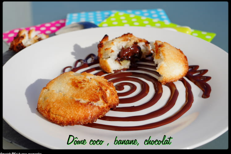 Dôme coco banane chocolat