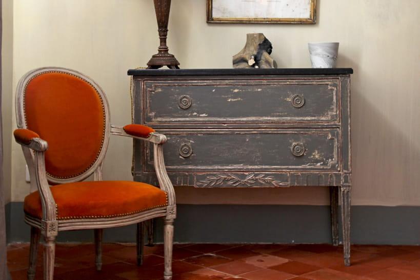 13 exemples de meubles relooks - Repeindre Un Vieux Meuble En Bois
