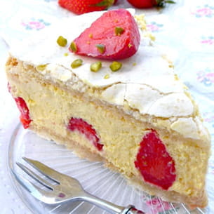 fraisier macaronné