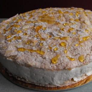 grand macaron poire-caramel-mascarpone