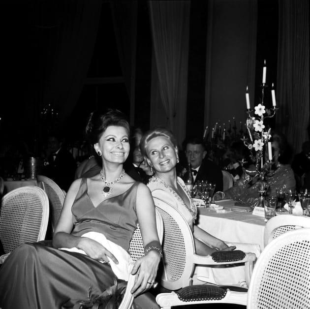 Avec Sophia Loren, Palais des Festival, mai 1966