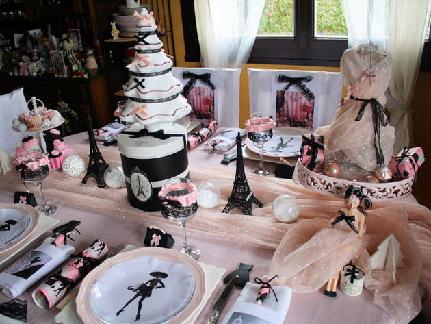 Table de Noël glamour