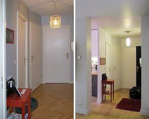 le hall d'entrée avant/après