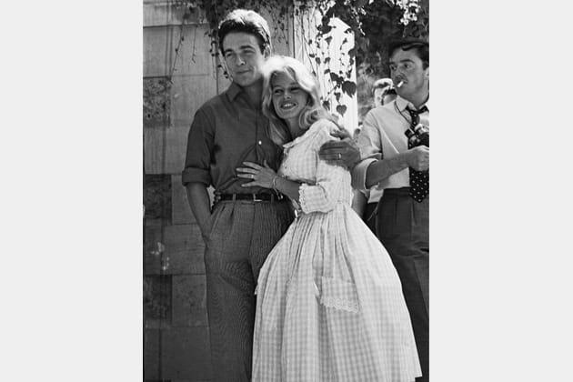 Brigitte Bardot en robe de mariée vichy