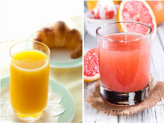 Jus d'orange ou jus de pamplemousse ?