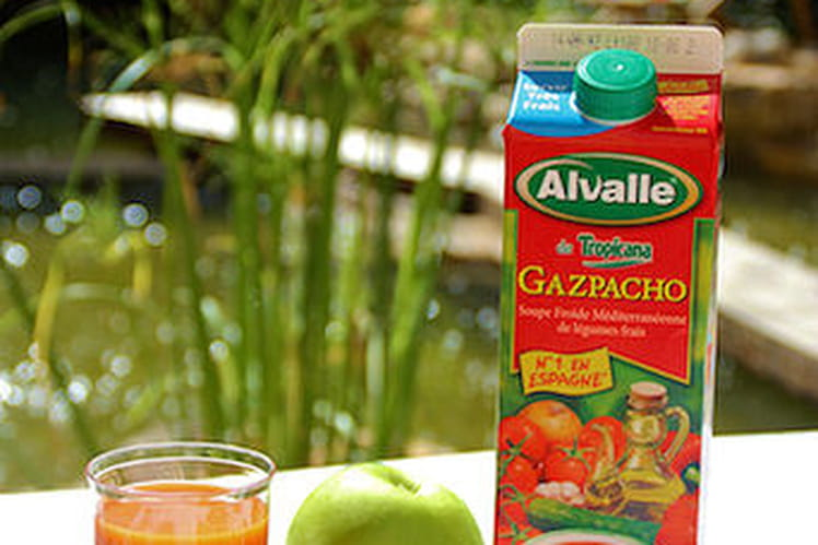 Salade de pois chiches et son Gazpacho Alvalle