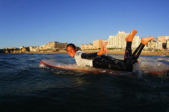 Compétition surf féminin