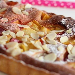 tarte amandine à la nectarine