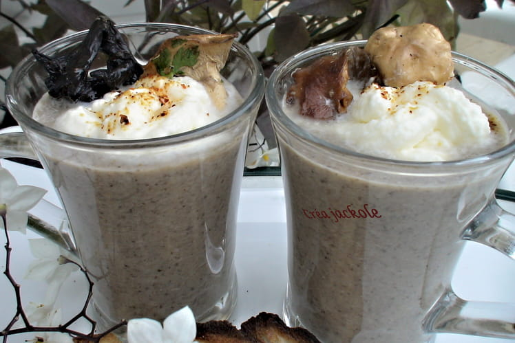 Cappuccino aux champignons des bois