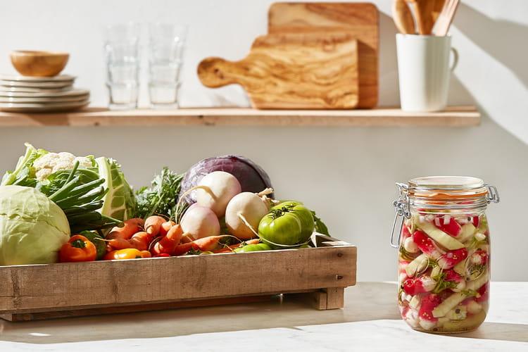 Pickles de radis et chou rave