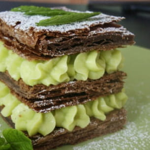 mille-feuille menthe chocolat