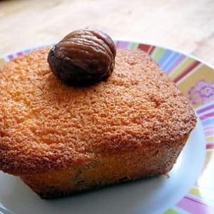 muffins à la châtaigne, coeur crème de marrons