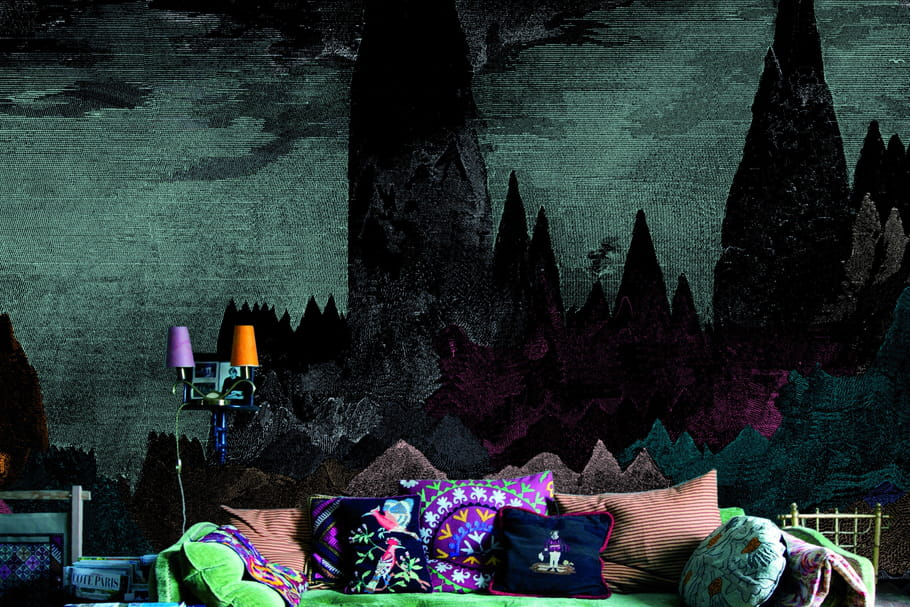 bien fait du papier peint tr s bien fait. Black Bedroom Furniture Sets. Home Design Ideas