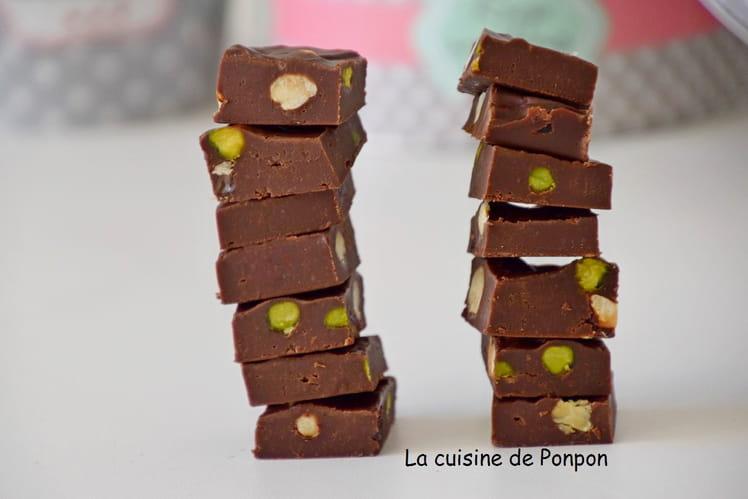 Fudge au chocolat et fruits secs
